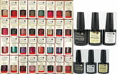AU26.99 • Buy CND Shellac UV Gel Polish 7.3ml, Base Coat, Top Coat, Xpress 5 - Choose From ANY