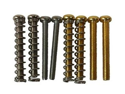 £3 • Buy Humbucker Pickup Mounting Height Screws & Springs - Import/USA Size, Chrome/gold