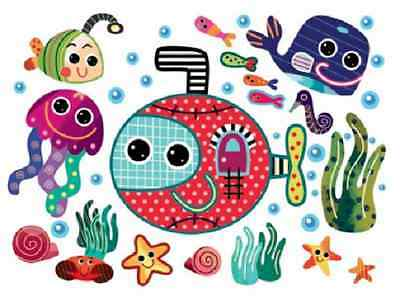 Smart Wall Art By Witty Doodle Stimulating Nursery Wall Art Underwater Scene • 19.99£