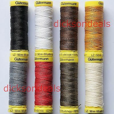 £2.99 • Buy Gutermann Strong Linen Thread Sewing Repair Mending Leather Upholstery 50m Reel