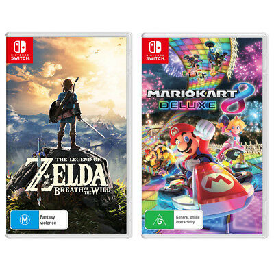 AU146.95 • Buy The Legend Of Zelda: Breath Of The Wild & Mario Kart 8 Deluxe Switch Game NEW