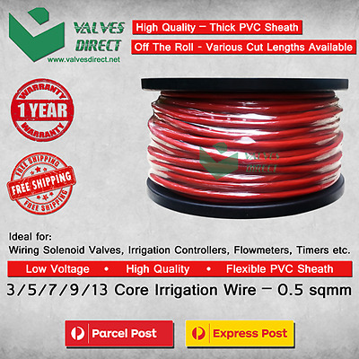AU27 • Buy 3/5/7/9/13 Core / Multi Core Irrigation Wire/cable 0.5 Sqmm - Meter Cut Lengths