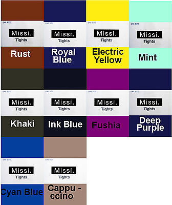 Missi Tights Pantyhose 40 Or 100 Denier Various Opaque Colours 36-42 Hip • 2.45£