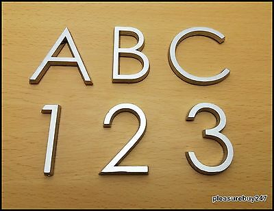 Self Adhesive 3D Chrome Letters Numbers Silver House Door Car Badge 5cm HAG • 1.99£