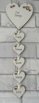 Personalised Family Sign Plaque Heart Our Family Name Gift House Warming Gift • 7.49£