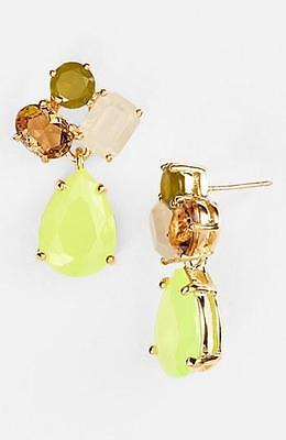 $ CDN78.34 • Buy KATE SPADE New York Colorful Stone Drop Gold Chandelier Earrings Yellow Green