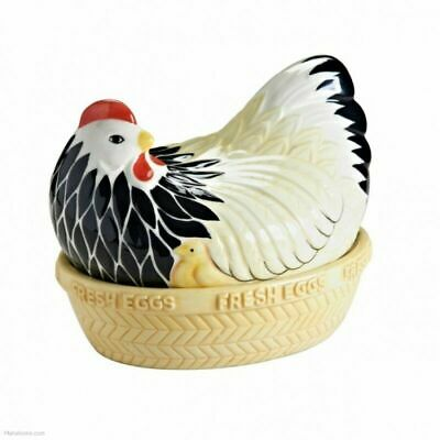 Mason Cash Mother Hen Ceramic Nest Basket Egg Storage Kitchen Holder Rack • 20.49£