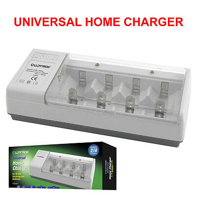 £13.49 • Buy Lloytron B044 Universal Battery Charger For AA AAA C D 9v Rechargeable Batteries