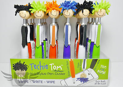 $5.50 • Buy Techie Tom 3-in-1 Stylus Pen Duster Mop Top Cleaner - Assorted Colors, 1 Or Lot