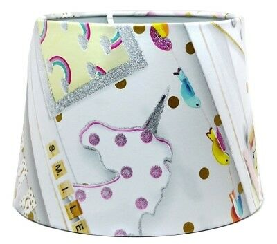 Unicorn Lampshade Ceiling Light Shade Girls Bedroom Nursery Accessories Gifts • 26.99£