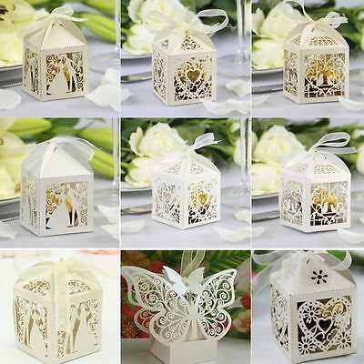 £2.99 • Buy Luxury Wedding Laser Cut Out Party Sweets Cake Candy Gift Favour Favors Boxes