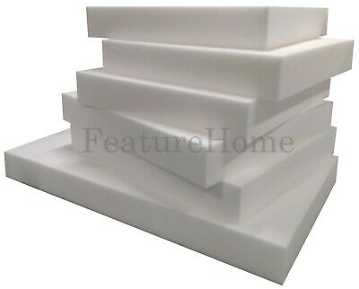 £0.99 • Buy High Density Upholstery Foam Sheet - CUT TO ANY SIZE - Sofa Pads & Cushions