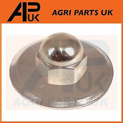 £6.75 • Buy NEW David Brown Chrome Steering Wheel Nut & Washer 880 990 995 996 Tractor