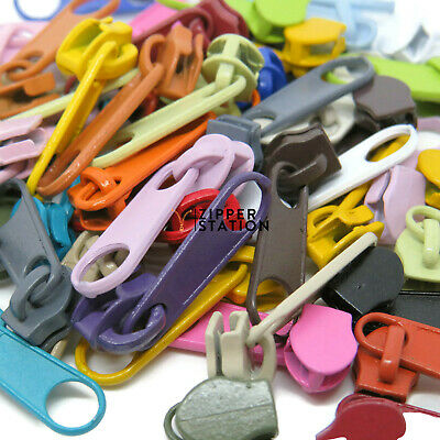 £1.95 • Buy No3 Zip Slides, Pulls, #3 Fastenings For Continuous Nylon Coil Zipper