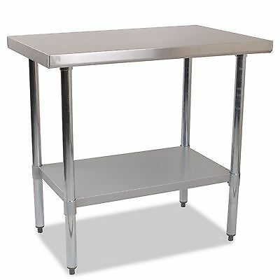 £129 • Buy Commercial Catering Grade Stainless Steel Work Bench Kitchen Top /Table -1200mm