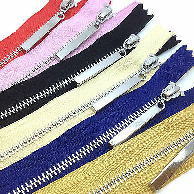 Metal Polished Silver Teeth Zips No 3 Weight Zip - Closed End Zipper (PS3CE) • 4.30£