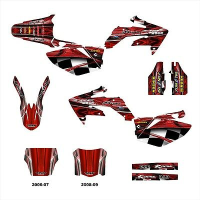 $149 • Buy CRF 250 R Graphics Deco For Honda 250R 2004 2005 2006 2007 2008 2009 NO2001 Red
