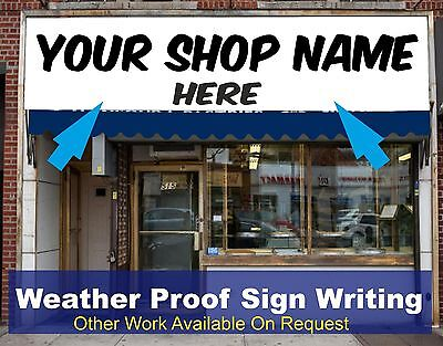 Shop Front Fascia Vinyl Graphic Signs Name Decals Sign Writing  Size 5m X 0.6m  • 112.50£
