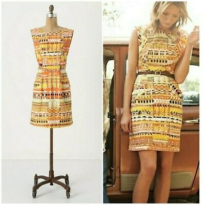 3e5a26578233 New Anthropologie Brilliant Chaos Dress By Tracy Reese Size 4 • 57.00$