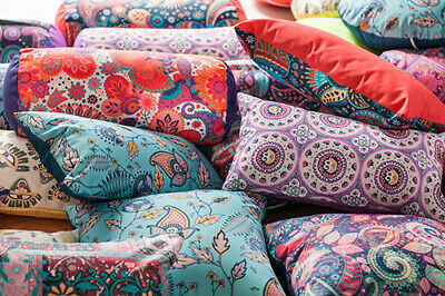 Ethnic Prints Outdoor Water Resistant Filled Garden Scatter Cushions Furniture • 20.97£