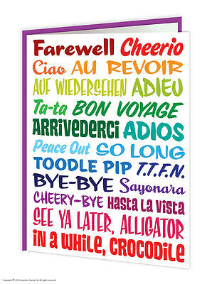 Leaving Bon Voyage Travel Goodbye Good Luck Greetings Card Funny Comedy Humour • 2.75£