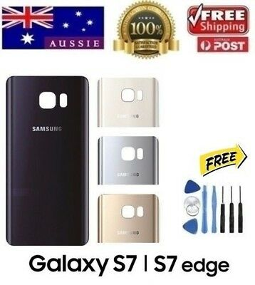 AU12.70 • Buy Samsung Galaxy S7 & S7 Edge Back Rear Glass Housing Battery Cover Case + TOOLS