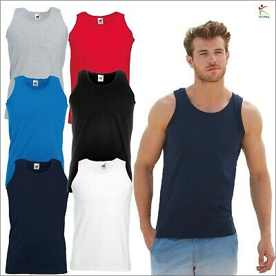 £5.49 • Buy Fruit Of The Loom Valueweight Athletic Vest Fitted Sleeveless Vests Tank Tee TOP