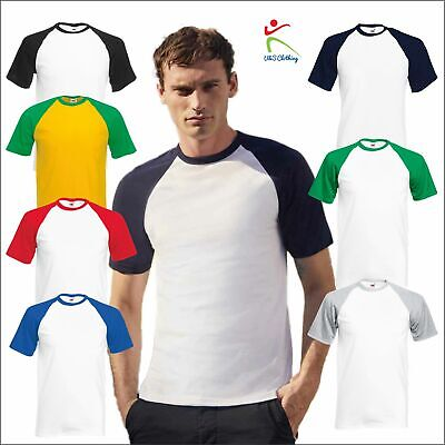 £6.99 • Buy Fruit Of The Loom Mens Valueweight Short Sleeve Baseball T-Shirt Casual Sports T