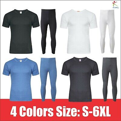 Mens Winter Thermal Long Johns Short Sleeve T-Shirt Underwear Base Layer SKI TOP • 7.49£