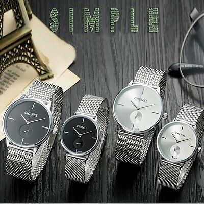 AU26.99 • Buy 30m Waterproof Stainless Steel Milanese Mes Band Quartz Mens & Womens Watches