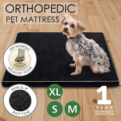 AU42.95 • Buy Memory Foam Dog Bed Pet Beds Mat Cat Pad Orthopedic Cushion Mattress
