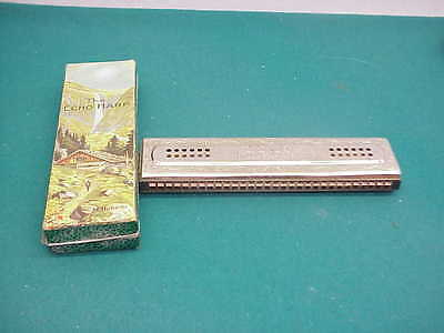 $130 • Buy M.Hohner Antique The Echo Harp  Germany Bell Metal Reeds Box Harmonica