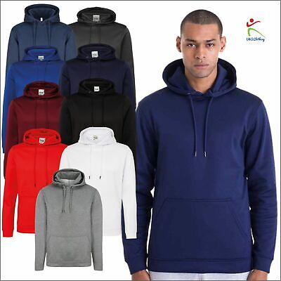 AWDis Mens Sports Polyester Hoodie Slim Fit Casual Leisure Gym Running Pullover • 13.99£