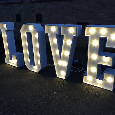 **HIRE** 4ft High Illuminated LOVE Letters **HIRE**  • 140£