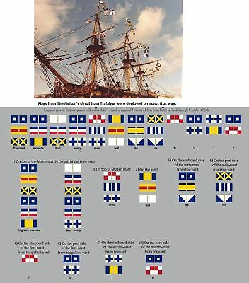 £14 • Buy Heller HMS Victory 1:100 - Set Of Flags By Nelson's Signals For Model