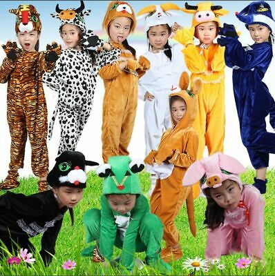 £11.99 • Buy Kids Animal Costumes Hooded Fancy Dress Party Unisex Outfit Pajamas Cosplay