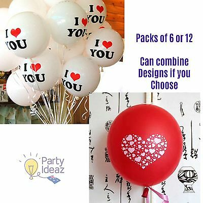 AU6.99 • Buy I Love You Balloons & Love Heart Balloons - Proposal Anniversary Valentines Day