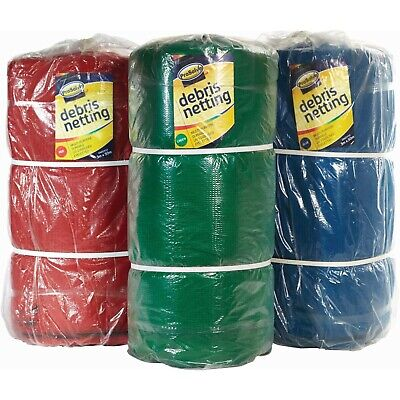 Greenhouse Shade / Scaffold Debris Netting, 2m Green, Black, Blue And Red  • 20.40£