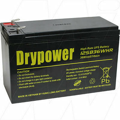 AU40.99 • Buy 12V 7Ah Replacement Battery Compatible With APC RBC17 (1 Battery Required)