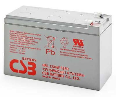 AU53.99 • Buy CSB HRL1234W 12V 9Ah 34W High Rate 8Yrs Long Service Life SLA UPS NBN Battery