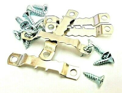 Picture Saw Tooth Hangers 45mm Nickel Plated With Screws Canvas Frame Multi List • 2.99£