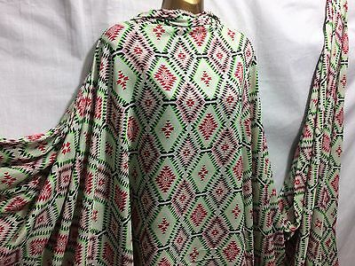 *NEW*L/Weight Smooth Polyester Aztec-Ethnic Print 4 Dress/Craft Fabric*FREE P&P* • 4.45£