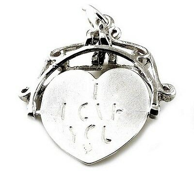 Sterling Silver Large I Love You Spinner Fob Charm          • 18.69£