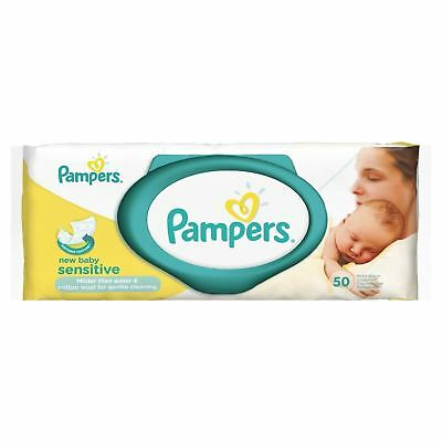 £11.15 • Buy Pampers New Baby Sensitive Wipes - 50