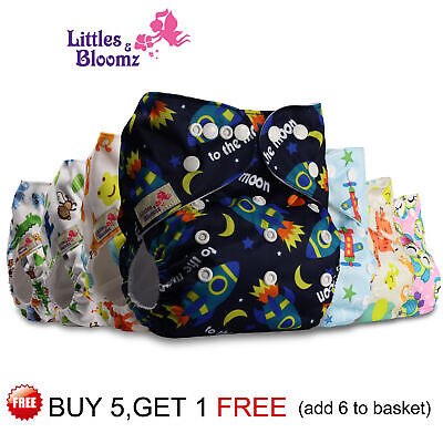 View Details Reusable Cloth Nappy Washable Baby Pocket Diaper STANDARD Popper Adjustable Wrap • 5.49£