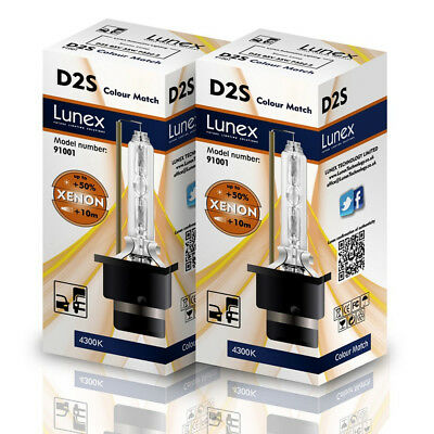$36.38 • Buy 2 X D2S Genuine LUNEX CAR XENON BULBS REPLACEMENT FOR PHILIPS GE OSRAM  4300K