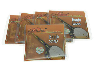 AU13.46 • Buy 5 SET Alice Plated Steel 4 String Banjo Strings Coated Copper Alloy Wound String