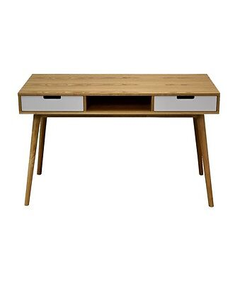 AU99 • Buy Office Desk Table 2 Drawers White And Light Oak Colour