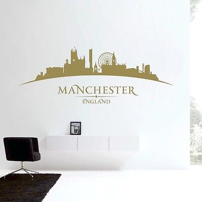 £31.99 • Buy Manchester England City Skyline - Cathedral, Wheel, Beetham Tower - Bedroom L...