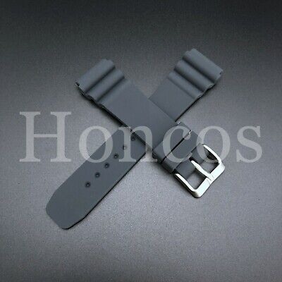 $ CDN11.77 • Buy 22 MM Gray Silicone Rubber Watch Band Strap Fits Seiko Diver 2020 Model SKX
